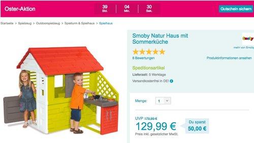 Smoby Natur Haus mit Sommerküche - jetzt 31% billiger