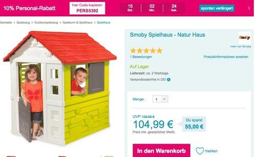Smoby Spielhaus - Natur - jetzt 16% billiger