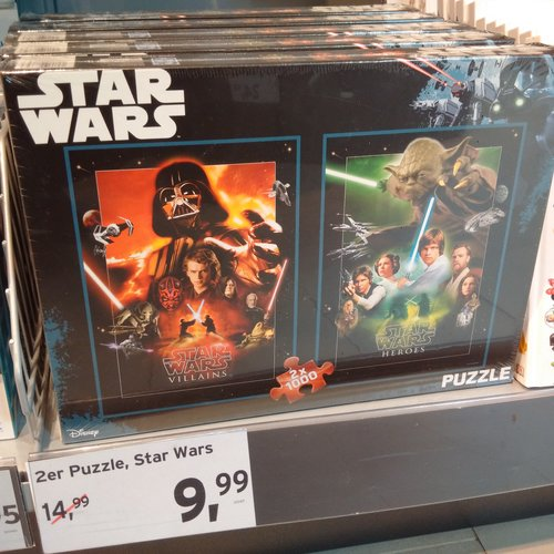 Star Wars Puzzle - jetzt 33% billiger