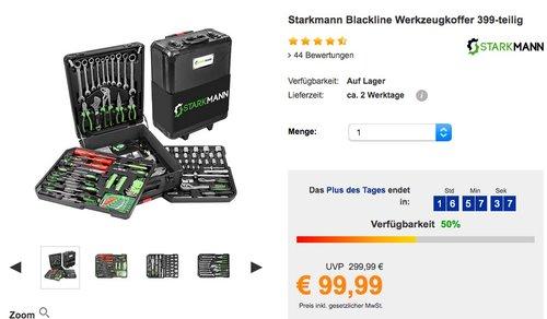 Starkmann Blackline 399 tlg. Werkzeugkoffer - jetzt 33% billiger