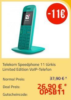 Telekom Speedphone 11 türkis Limited Edition VoIP-Telefon - jetzt 29% billiger