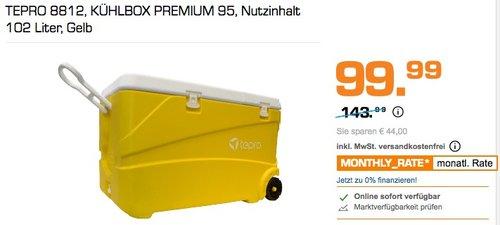 TEPRO 8812 KÜHLBOX PREMIUM 95, Nutzinhalt 102 Liter, Gelb - jetzt 31% billiger