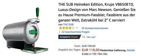THE SUB Heineken Edition Premium-Heimzapfanlage, Krups VB650E10 - jetzt 32% billiger