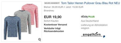 Tom Tailor Herren Pullover mit Struktur - jetzt 50% billiger