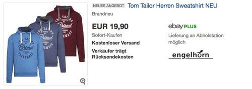 Tom Tailor Herren Sweatshirt - jetzt 20% billiger
