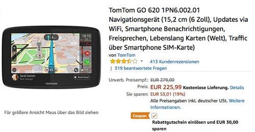TomTom GO 620 Navigationsgerät 15,2 cm (6 Zoll) - jetzt 13% billiger