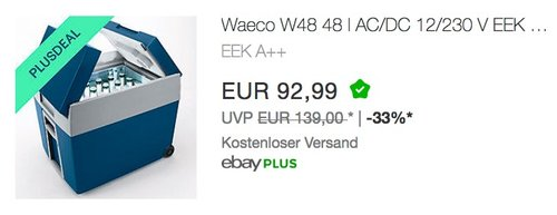 Waeco MOBICOOL W48 AC/DC - Elektrische Kühlbox Trolley-Kühlbox I 48 Liter Fassungsvermögen für komplette Bierkiste - jetzt 10% billiger