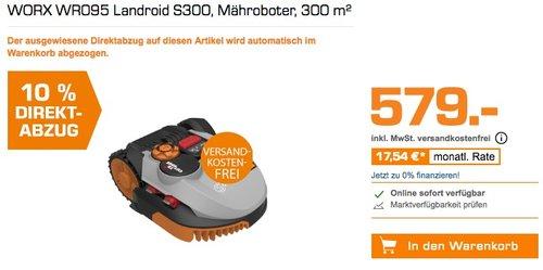 WORX WR095 Landroid S300 Mähroboter - jetzt 10% billiger