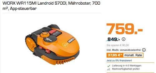 Worx WR115MI Landroid Rasen Mähroboter SO700i bis 700 m2 - jetzt 11% billiger