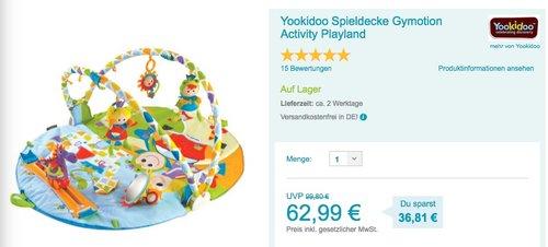 Yookidoo Spieldecke Gymotion Activity Playland - jetzt 10% billiger