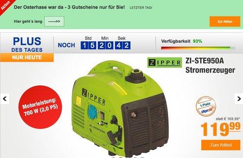 Zipper ZI-STE950A Stromerzeuger - jetzt 19% billiger