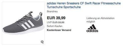 adidas Herren Sneaker CF Swift Racer grau - jetzt 14% billiger