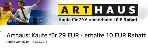 Amazon-Aktion: Kaufe für 29 EUR Filme aus Arthaus Collection- erhalte 10 EUR Rabatt - jetzt 30% billiger