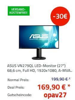 Asus VN279QL 68,6cm (27 Zoll) Monitor - jetzt 15% billiger