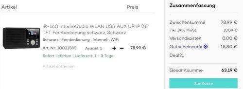 auna IR-160 Internetradio - jetzt 20% billiger