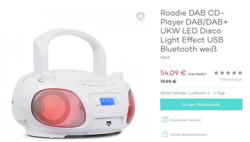 auna Roadie DAB CD-Player DAB/DAB+ - jetzt 10% billiger
