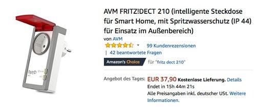 AVM FRITZ!DECT 210 intelligente Steckdose für Smart Home - jetzt 18% billiger