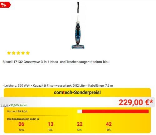 Bissell 17132 Crosswave 3-in-1 Nass- und Trockensauger - jetzt 18% billiger