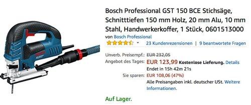 Bosch Professional GST 150 BCE Stichsäge - jetzt 27% billiger