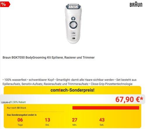 Braun Herren Bodygrooming-Set BGK7050, Epilierer, Trimmer, Rasierer - jetzt 12% billiger