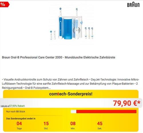 Braun Oral-B Professional Care Center 2000 - Munddusche Elektrische Zahnbürste - jetzt 9% billiger