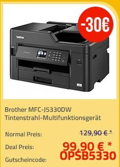 Brother MFC-J5330DW Tintenstrahl-Multifunktionsgerät - jetzt 21% billiger