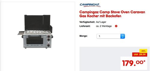 Campingaz Camp Stove Oven Caravan Gas Kocher mit Backofen - jetzt 5% billiger