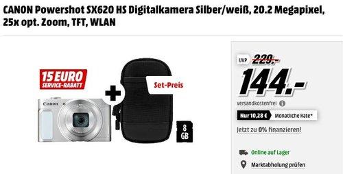 CANON Powershot SX620 HS Digitalkamera Silber/Weiß, 20.2 Megapixel, 25x opt. Zoom - jetzt 21% billiger