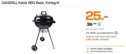 DANGRILL Kettle BBQ Basic Kohlegrill - jetzt 37% billiger