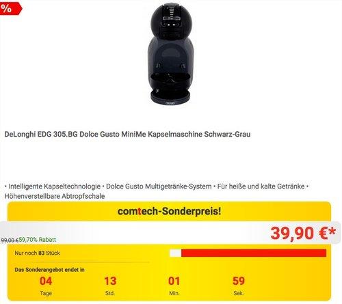 DeLonghi EDG 305.BG Dolce Gusto MiniMe Kapselmaschine - jetzt 20% billiger