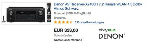 Denon AVRX2400H 7.2 Surround AV-Receiver - jetzt 12% billiger