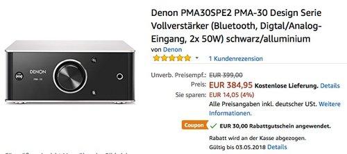 Denon PMA30SPE2 PMA-30 Design Serie Vollverstärker - jetzt 8% billiger