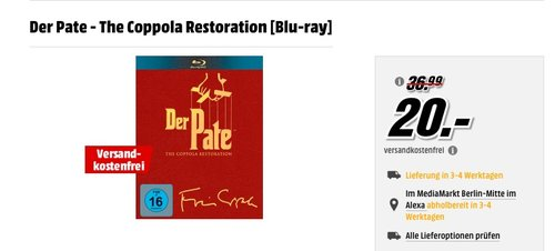 Der Pate - The Coppola Restoration [Blu-ray] - jetzt 17% billiger