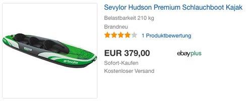 Sevylor Hudson Premium Schlauchboot Kajak - jetzt 25% billiger