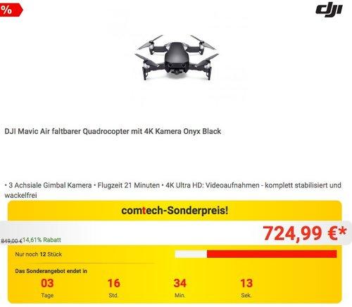 DJI Mavic Air - Drohne mit 4K Full-HD Videokamera - jetzt 7% billiger