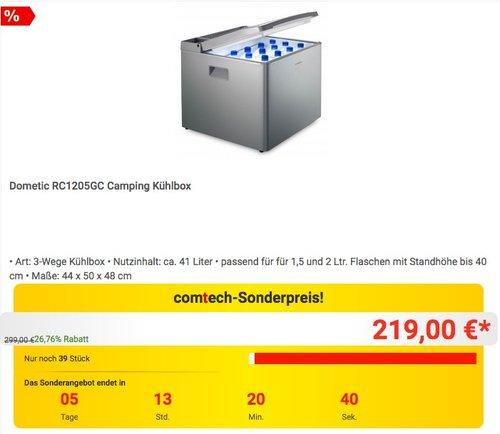 Dometic RC1205GC Camping Kühlbox - jetzt 5% billiger