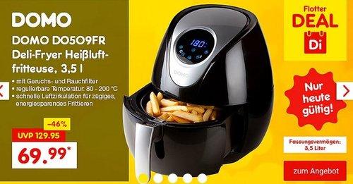 DOMO DO509FR Deli-Fryer Heißluftfritteuse, 3,5 l - jetzt 22% billiger
