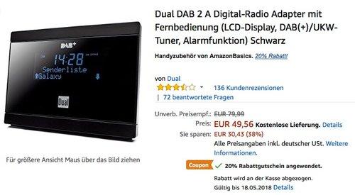 Dual DAB 2 A Digital-Radio Adapter für Stereoanlage - jetzt 20% billiger