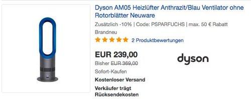 Dyson AM05 Heizlüfter Anthrazit/Blau Ventilator - jetzt 10% billiger