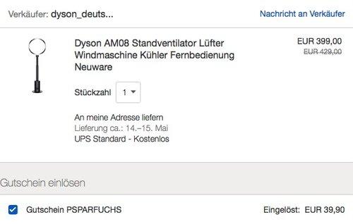 Dyson AM08 Standventilator - jetzt 10% billiger