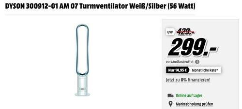 Dyson Cool AM07 Turmventilator Weiß/Silber - jetzt 8% billiger