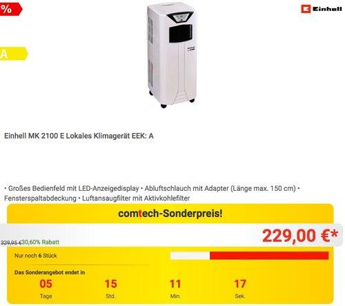 Einhell MK 2100 E Lokales Klimagerät - jetzt 11% billiger