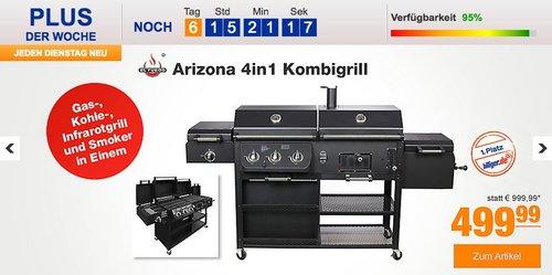 El Fuego Arizona 4in1 Kombigrill - jetzt 37% billiger