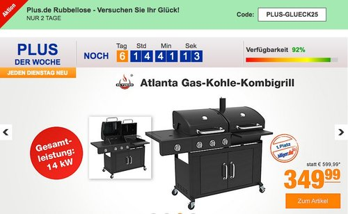 El Fuego Atlanta Gas-Kohle-Kombigrill - jetzt 46% billiger