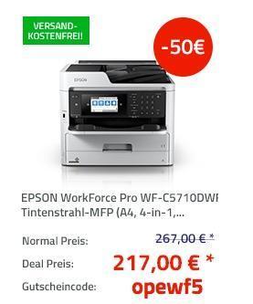EPSON WorkForce Pro WF-C5710DWF Tintenstrahl-Multifunktionsgerät - jetzt 19% billiger