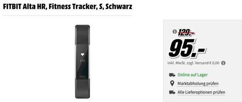 FITBIT Alta HR Fitness Tracker - jetzt 18% billiger