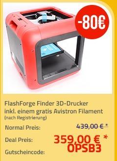 FlashForge Finder 3D-Drucker - jetzt 10% billiger
