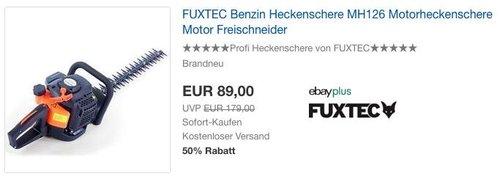 FUXTEC Benzin Heckenschere FX-MH126 - jetzt 18% billiger