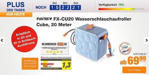 FUXTEC FX-CU20 Wasserschlauchaufroller Cube, 20 Meter - jetzt 22% billiger