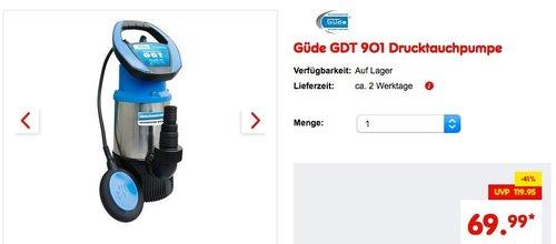 Güde GDT 901 Drucktauchpumpe - jetzt 7% billiger